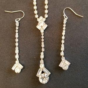 Vintage Evening Earring & Necklace Set - Costume